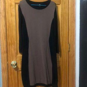 Brown and black dress